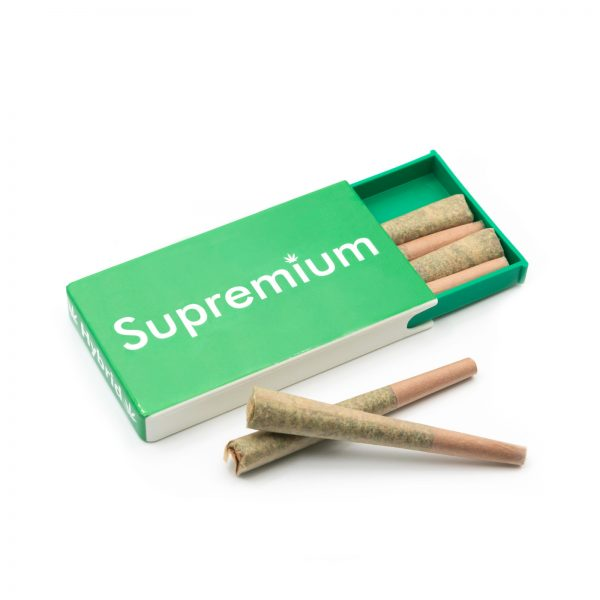 Supremium hybrid pre rolled joints in packs, pre rolled cones, sativa from online weed stores