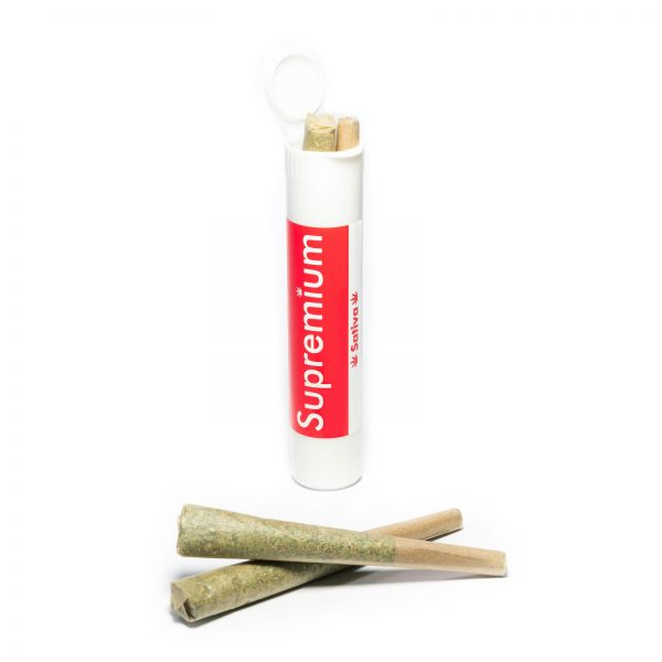 Supremium pre rolled joints sativa in tubes from online dispensaries